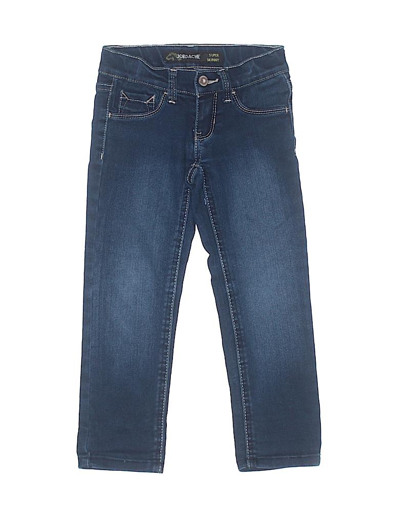 7421b8e5cf6 Jordache 100% Cotton Solid Blue Jeans Size 4 - 58% off