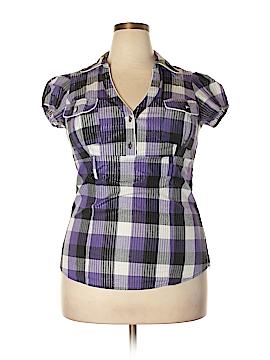 Halo Short Sleeve Blouse Size 1X (Plus)