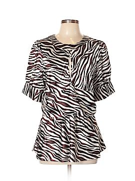 BCBGMAXAZRIA Short Sleeve Blouse Size XL