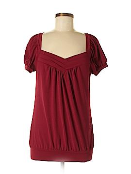 Wrapper Short Sleeve Blouse Size L