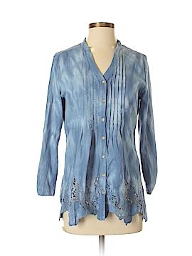 Reba Long Sleeve Button-Down Shirt Size S