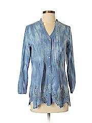 Reba Women Long Sleeve Button-Down Shirt Size S