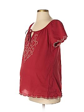 Duo Maternity Short Sleeve Blouse Size S (Maternity)