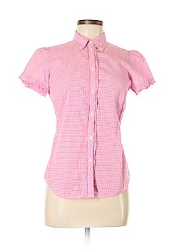 Gap Short Sleeve Button-Down Shirt Size 6
