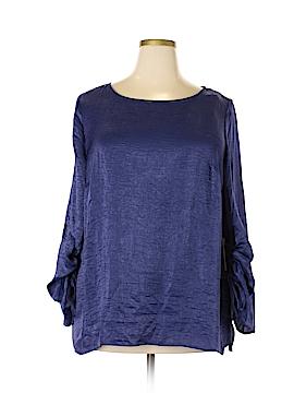 Eloquii Long Sleeve Blouse Size 18 (Plus)