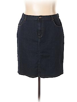 L-RL Lauren Active Ralph Lauren Denim Skirt Size 18 (Plus)