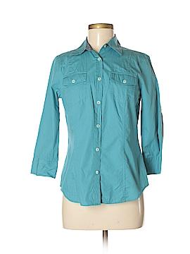 Van Heusen 3/4 Sleeve Button-Down Shirt Size S