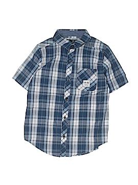 Buffalo by David Bitton Short Sleeve Button-Down Shirt Size S (Youth)