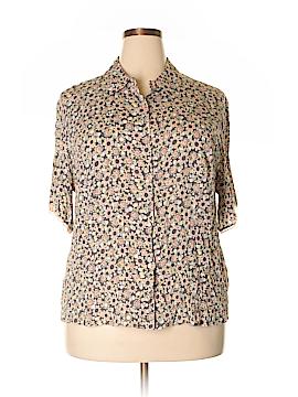Sigrid Olsen Short Sleeve Button-Down Shirt Size 2X (Plus)