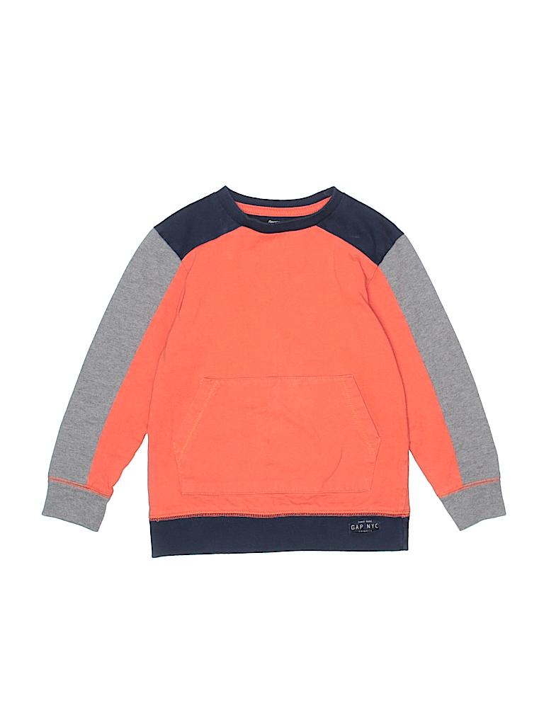 e49d12825 Gap Kids 100% Cotton Solid Orange Pullover Sweater Size X-Small ...