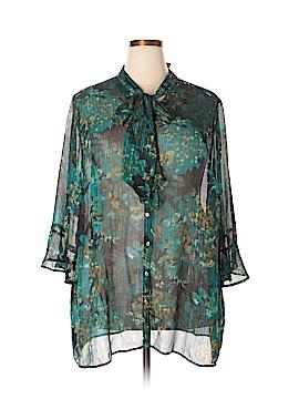 Catherines 3/4 Sleeve Blouse Size 4X (Plus)