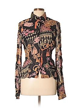 Violet & Claire Long Sleeve Button-Down Shirt Size L