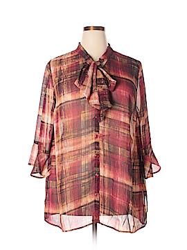 Catherines 3/4 Sleeve Blouse Size 1X (Plus)