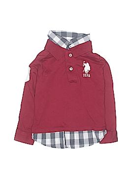 U.S. Polo Assn. Long Sleeve Polo Size 3T