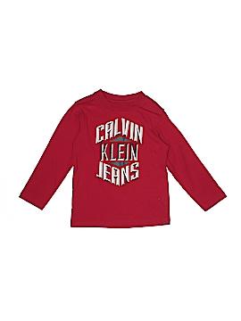 CALVIN KLEIN JEANS Long Sleeve T-Shirt Size 4T