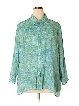 Notations Long Sleeve Button-Down Shirt Size 3X (Plus)