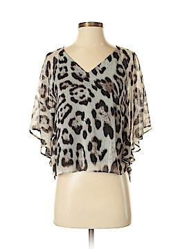 INC International Concepts Short Sleeve Blouse Size 4 (Petite)