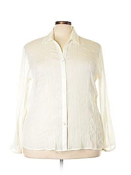 Sag Harbor Long Sleeve Blouse Size 1X (Plus)