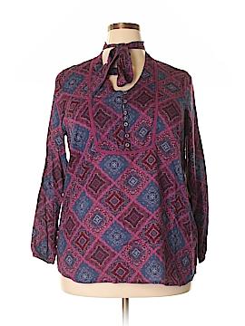 Ruff Hewn Long Sleeve Button-Down Shirt Size 1X (Plus)