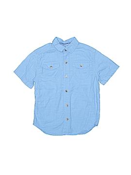 Arizona Jean Company Short Sleeve Button-Down Shirt Size 6