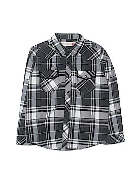 Sovereign Code Short Sleeve Button-Down Shirt Size L (Kids)