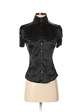 LA Cite Short Sleeve Silk Top Size XS