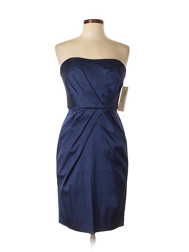 Maggy London Solid Dark Purple Cocktail Dress Size 10 (Petite) - 75 ...