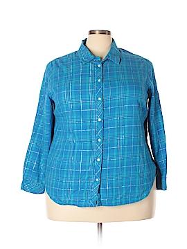 Laura Scott Long Sleeve Button-Down Shirt Size 2X (Plus)