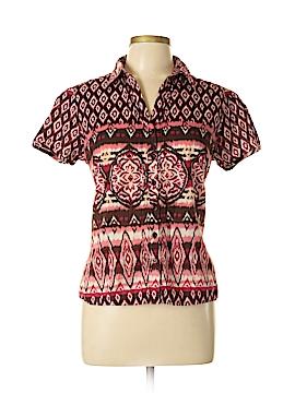 Kim Rogers Short Sleeve Button-Down Shirt Size L