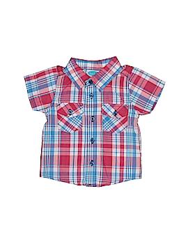 Bon Bebe Short Sleeve Button-Down Shirt Size 0-3 mo