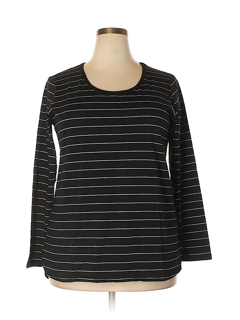City Chic Women Long Sleeve T-Shirt Size XS(14) (Plus)