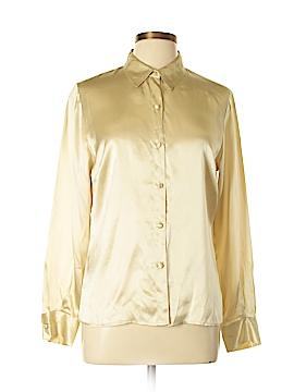 Oscar by Oscar De La Renta Long Sleeve Silk Top Size 10