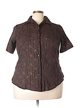 TanJay Short Sleeve Button-Down Shirt Size 18 (Plus)