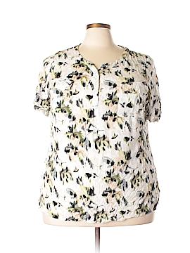 Croft & Barrow Short Sleeve Blouse Size 3X (Plus)