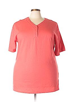 Hunt Club Short Sleeve Henley Size 2X (Plus)