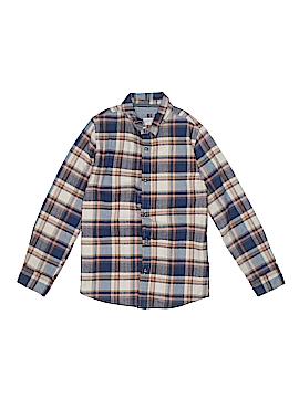 Zara Kids Long Sleeve Button-Down Shirt Size 8