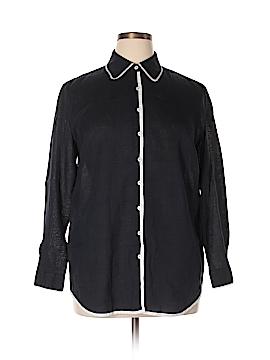 Dana Buchman Long Sleeve Button-Down Shirt Size 14