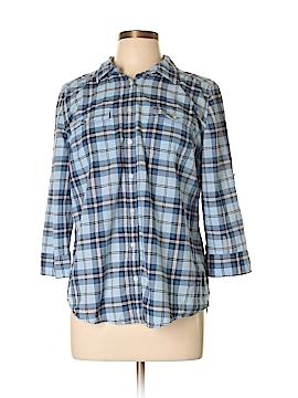 St. John's Bay 3/4 Sleeve Button-Down Shirt Size L
