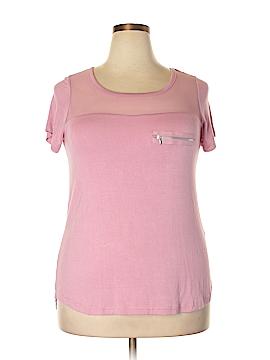 Splash Short Sleeve Top Size 1X (Plus)
