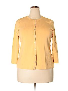 Alfani Silk Cardigan Size 1X (Plus)