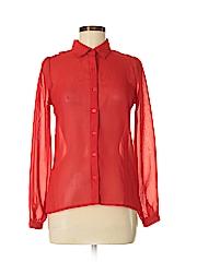 Charlotte Russe Women Long Sleeve Blouse Size S