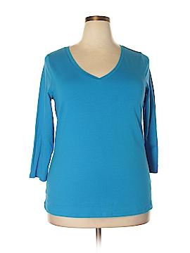 Rafaella 3/4 Sleeve T-Shirt Size 1X (Plus)