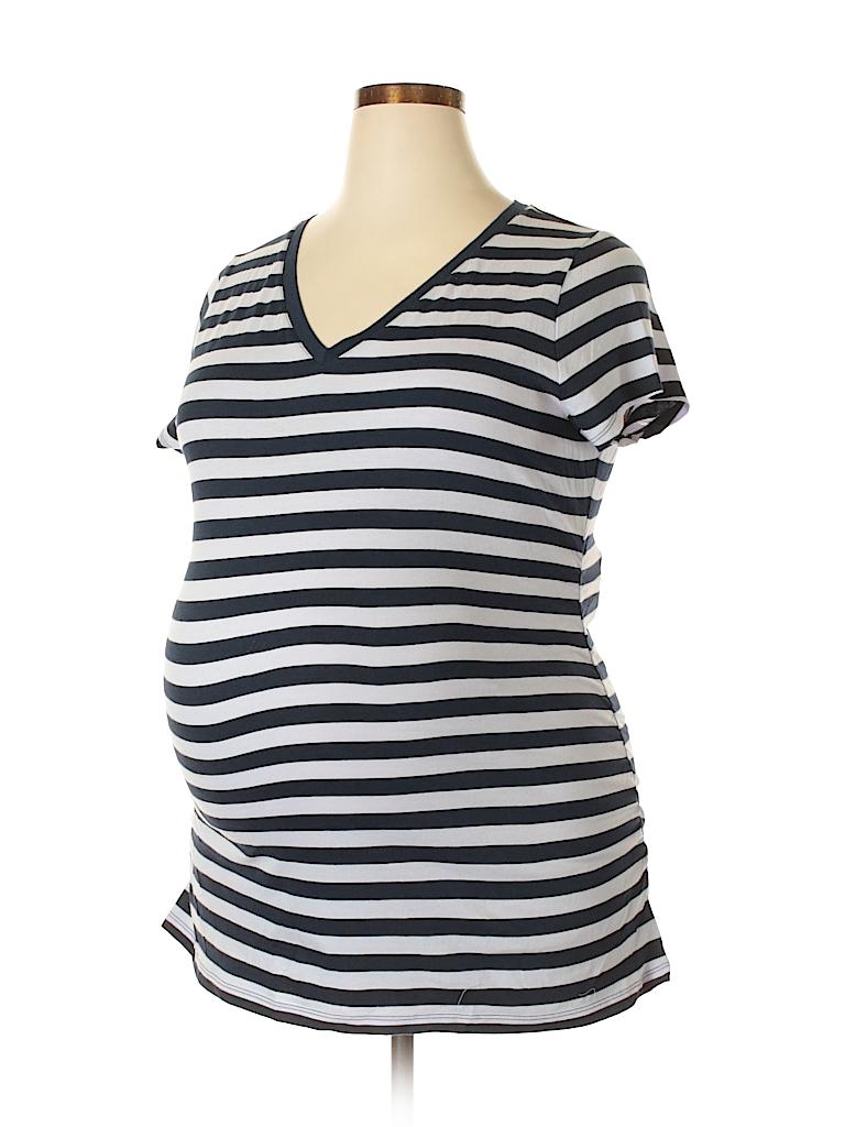 ade718f5fc6c5 Liz Lange Maternity for Target Stripes Dark Blue Short Sleeve T ...