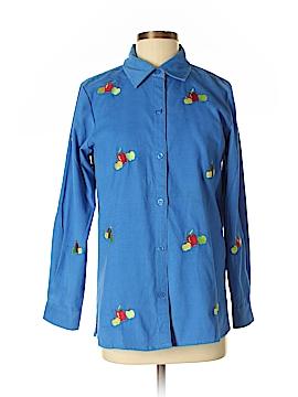 Quacker Factory Long Sleeve Button-Down Shirt Size XS