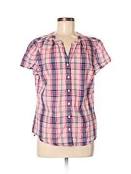 L.L.Bean Short Sleeve Button-Down Shirt Size M