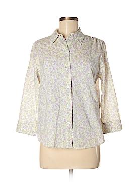 St. John's Bay 3/4 Sleeve Button-Down Shirt Size M