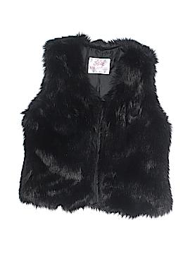 Justice Faux Fur Vest Size 8 - 10