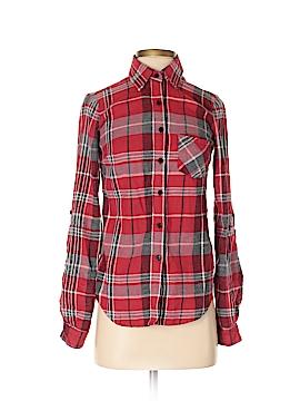 Material Girl Long Sleeve Button-Down Shirt Size XS