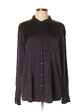 Eileen Fisher Long Sleeve Silk Top Size XL