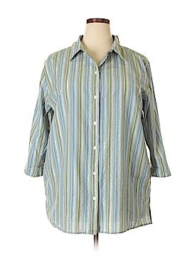 Victoria Jones Long Sleeve Button-Down Shirt Size 1X (Plus)